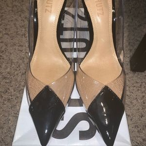 Schutz pvc sling back pumps